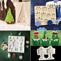 Christmas Snowflake Silicone Mould Fondant Cake Mold Baking Decor Sugar Craft