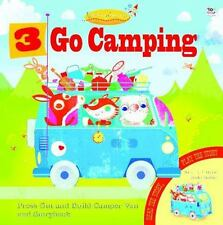 3 GO CAMPING - GRAHAM, OAKLEY/ GREEN, OLIVE MAY (ILT) - NEW HARDCOVER BOOK