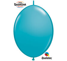 "50ct. TROPICAL TEAL Quicklink 12"" Latex Helium Linking Balloons ARCHES ARBORS"