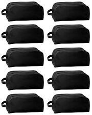 10er Set Schuhtasche schwarz | Schuhbeutel Sporttasche | Reisetasche für Schuhe