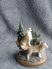 2 Timber Wolf Figurine Collectible Animal