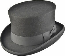 HAND MADE TOP HAT 100% WOOL Felt Satin Wedding Party Event - Boxed
