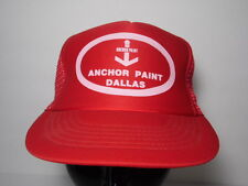 Vintage 1980s ANCHOR PAINT DALLAS TEXAS Advertising SNAPBACK HAT TRUCKER CAP
