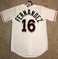 Jose Fernandez #16 Miami Marlins Majestic Cool Base Jersey Sewn White NEW Men's