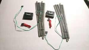 Bachmann HO Train Lot 1 Pair Of #5 R&L Powered Turnouts w/Switches