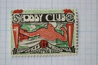 Hobby club Executive offices Winnipeg Canada Intl Exchange 1909 poster stamp MH