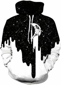3D Relistic Printed Hoodies for Men Women Cool Graphic Hooded S