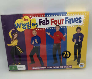 2016 The Wiggles 'Fab Four Faves' 25 Years DVDs Special X4 - RARE NEW AND SEALED