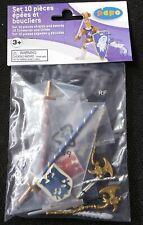 Papo RITTER 39260 - 10-teiliges Set Schwerter + Schilde - NEU in OVP