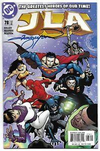 JLA 78 Signed Tom Nguyen Justice League Wonder Woman Superman Green Lantern Atom