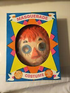 Vintage Halloween MASK & COSTUME Ben Cooper Raggedy Ann in original box 1965