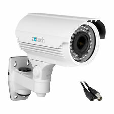 White 700 TVL 1/3 Sony Effio-e CCD Waterproof Outdoor 40m IR Bullet CCTV Camera