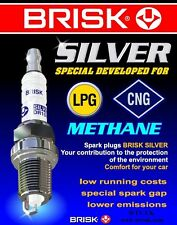 4x Toyota Matrix 1.8i y2001-2004 = Brisk YS Silver Lpg,Gpl,Petrol Spark Plugs