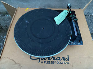 Garrard Turntable NOS GT-10-P Boxed Unopened 1970/80s Tags Belt Drive DJ