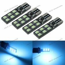 4x Aqua Blue No Error T10 W5W 2825 LED Bulbs For Parking City Eyelid Light 2B