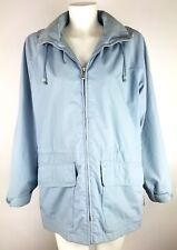 Pacific Trail Outdoor Wear Womens Parka Powder Blue Detachable Hood Zip Front