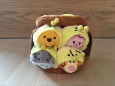 Disney Store Japan Honey Pot Set 2015 Pooh, Piglet, Tigger, Eeyore Mini Tsum NWT