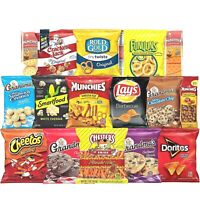 Delicious Snacks Care Package 40 Ct Variety of Chips, Cookies, Crackers & More
