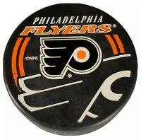 PHILADELPHIA FLYERS NHL OFFICIAL HOCKEY PUCK SHADOW LOGO INGLASCO  VEGUM VINTAGE