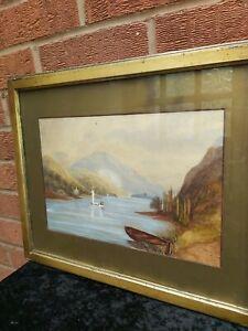 19th Century By British Artist CL Westley Original  Painting, c1881