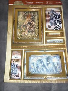 HUNKYDORY ADORABLE SCORABLE WILD AT HEART TOPPERS A4 CARDS INSERTS ENVELOPES