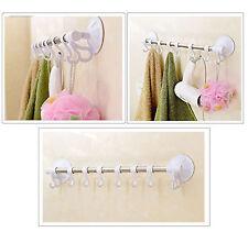Suction Cup Hooks Towel Hanging Bathroom Kitchen Wall Door Hanger Rack Organiser