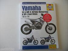 YAMAHA HAYNES MANUAL YZF WR 250 400 426 450 YZF426 WR400 YZF250 YZF450 WRF BOOK