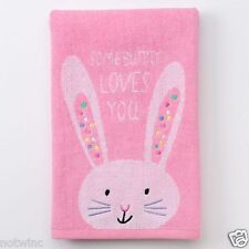 Blossoms Happy Easter Bunny Rabbit Bathroom Hand Towel Somebunny Loves You  NWT