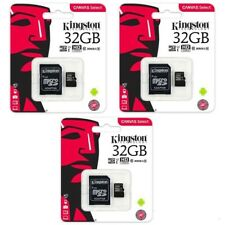 3 X Kingston Canvas Select Micro SD SDHC Memory Card 80MB/s UHS-1 Class 10- 32GB