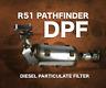 DPF Diesel Particulate Filter for R51 Pathfinder 2.5L (YD25DDTi)