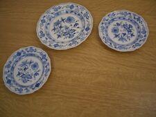 Meissen Frühstücksteller 20cm + 2x kleiner Teller 16,5cm Zwiebelmuster 2. Wahl