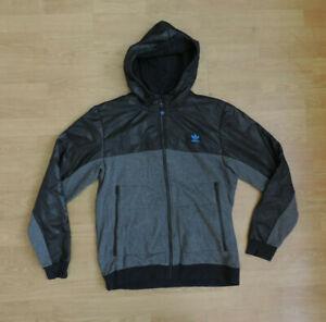 Men's adidas Team Hoodie Black Grey A7-B6