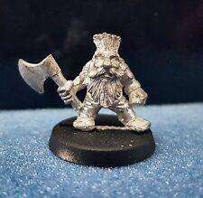 Citadel Warhammer Dwarf Troll Slayer 3 with Axe unpainted Metal 1980/90's Oop
