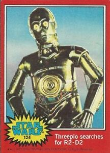 1977 Topps Star Wars Red #124 Threepio Searches for R2-D2 > C-3PO > Very Good