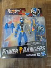 Power Rangers Dino Fury Blue Ranger 6-Inch Action Figure Key Inside Unlock - NEW