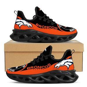 Denver Broncos Sneakers Shoe Men's Mesh Trail Running Training Shoes