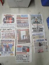 lot of 11 PRESIDENT OBAMA newspapers 2008 2009 collectible political history