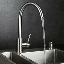 Stainless Steel Kitchen Sink Water Faucet Single Handle Swivel Spout Mixer Tap