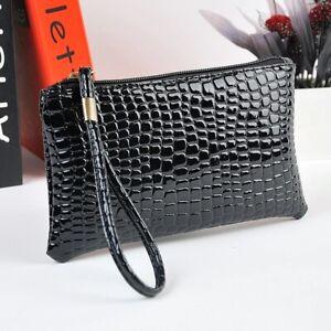 Wallet Clutch Long Black Women's Card Holder Phone Bag Zipper Casual Purse