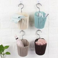 UK Small Plastic KNITTED Hanging Holder Basket Bag Bucket Box Tub Creative