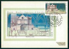 ITALY MK 2000 BASILICA SAINT ST. FRANCIS OF ASSISI CARTE MAXIMUM CARD MC ef30