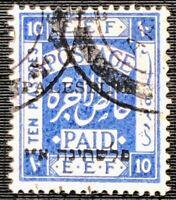 Israel Palestine 1920 10 Piastres Jerusalem I Setting Bale 25 Used CV $35