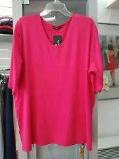 New Jersey Shirt Gr.42/44  in Pink 1/2  Arm V-Auschnitt  (1)