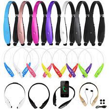 Universal Wireless Headset Stereo Headphone Neckband Sport Retractable Earphone