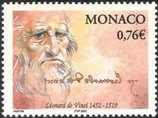 Monaco 2002 Leonardo da Vinci/Artists/People/Inventors/Art/History 1v (n38561)