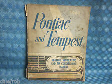 1961 Pontiac  & Tempest Original Heating Ventilating & Air Conditioning Manual
