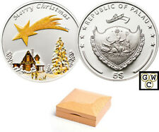 Palau $5 Sterling Silver Merry Christmas 2010 Coin (12760)