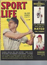 October 1949 Sport Life Magazine RALPH KINER DALE MITCHELL EDDIE KAZAK
