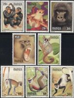 Rwanda 1978 Apes/Monkeys/Gorilla/Chimps/Wildlife/Animals/Nature 8v set (n22238)