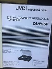 JVC QL-Y55F Turntable Owners Manual ULTRA RARE ~LOOK~ !!!